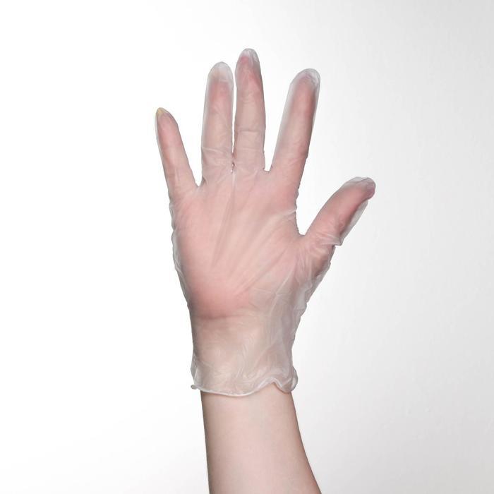Перчатки хозяйственные виниловые, размер L, 100 шт/уп, цена за 1 шт