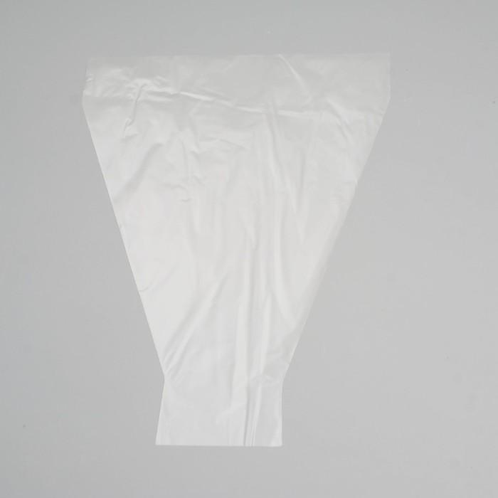 """Пакет цветочный рюмка """"Мелодия"""", прозрачный, 30 х 40 см"""
