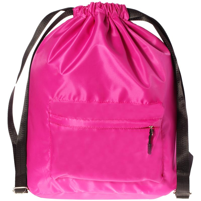 Рюкзак-мешок ArtSpace, 43*43см, 1 отделение, 2 кармана, розовый