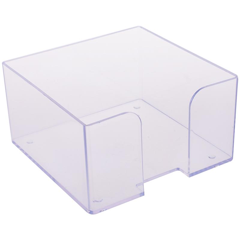 Подставка для бумажного блока Стамм, 9*9*5, прозрачный