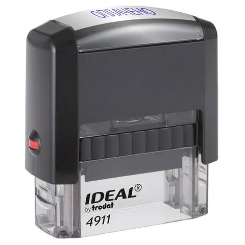"""Штамп стандартный """"ОПЛАЧЕНО"""", оттиск 38х14 мм, синий, TRODAT IDEAL 4911 DB-1.2, 161487"""