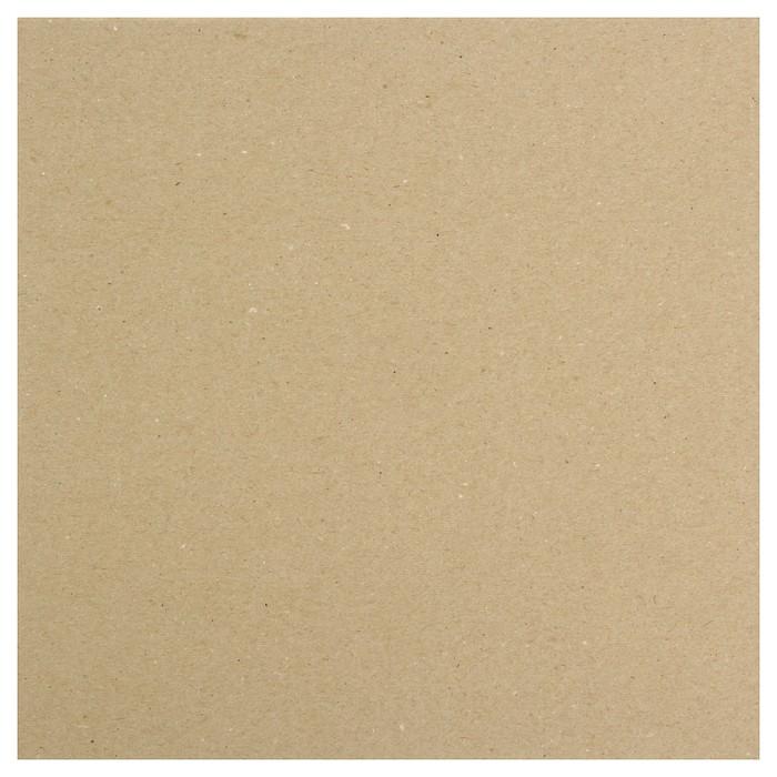 Картон переплетный 0.9 мм, 30х30 см, 540 г/м?, серый