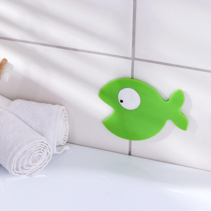 Мини-коврик для ванны «Кит», 10?12,5 см, цвет МИКС
