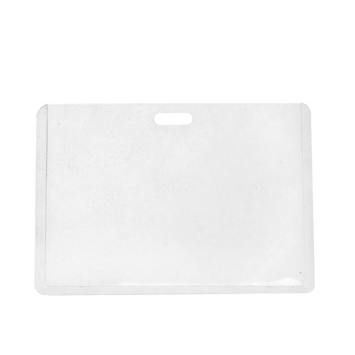 Бейдж-карман горизонтальный, (внешний 68 х 100 мм), внутренний 90 х 50 мм, 18 мкр