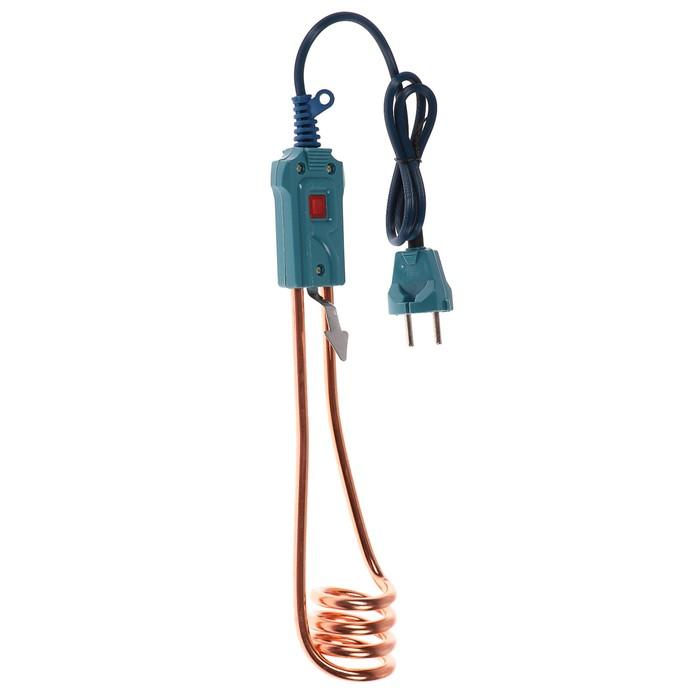 Электрокипятильник LuazON LEK 13, 1000 Вт, спираль пружина, индикатор, 28х5 см, 220 В, синий
