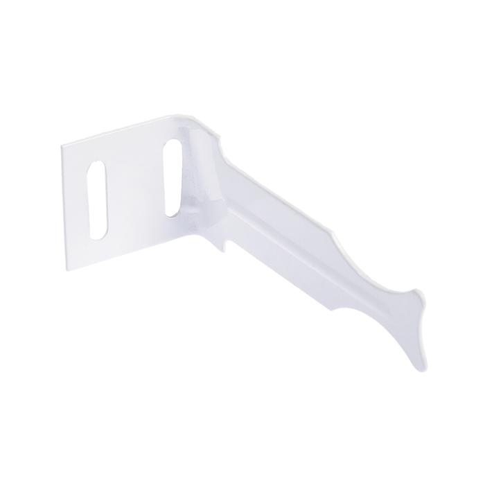Кронштейн универсальный угловой для алюминиевых радиаторов.