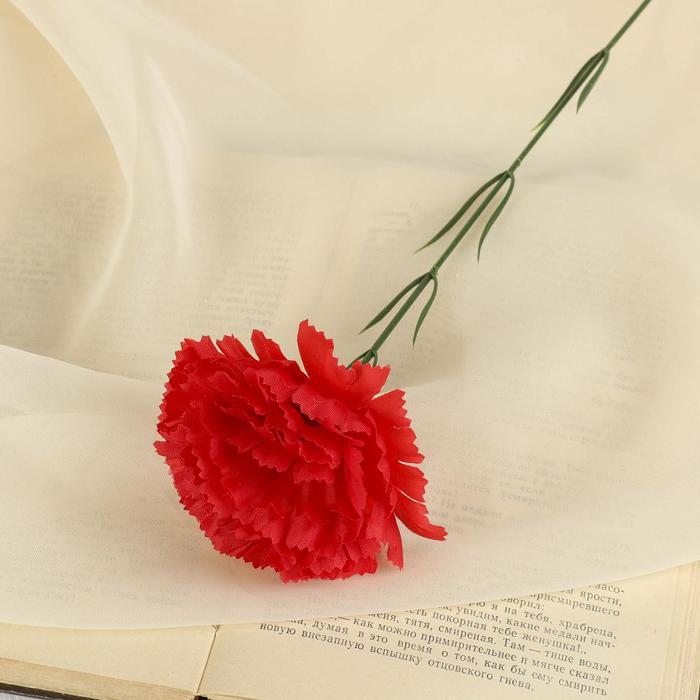 Цветы искусственные гвоздика 37 см красный