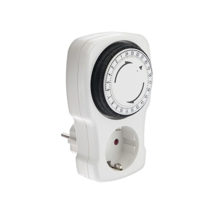 Таймер розеточный REV, механический, 3680 Вт, до 96 вкл./выкл. сутки, интервал 15 мин.,белый