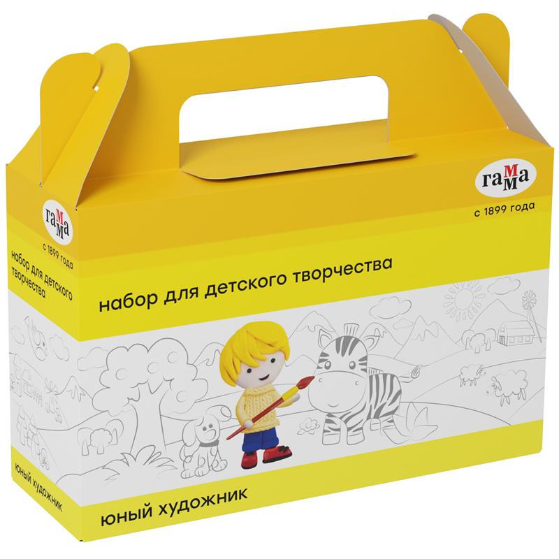 """Набор для детского творчества Гамма """"Юный художник"""", 7 предметов, в подарочной коробке"""