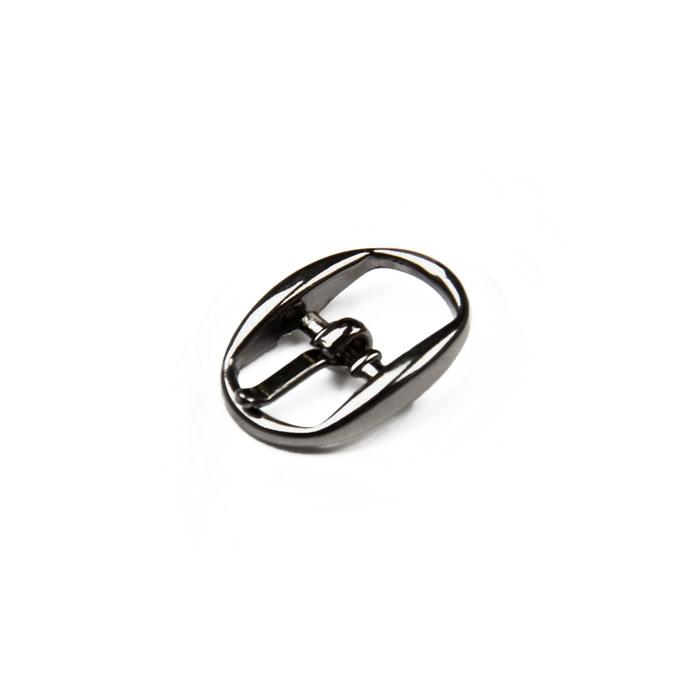 Пряжка для босоножек, 10 мм, цвет тёмный никель
