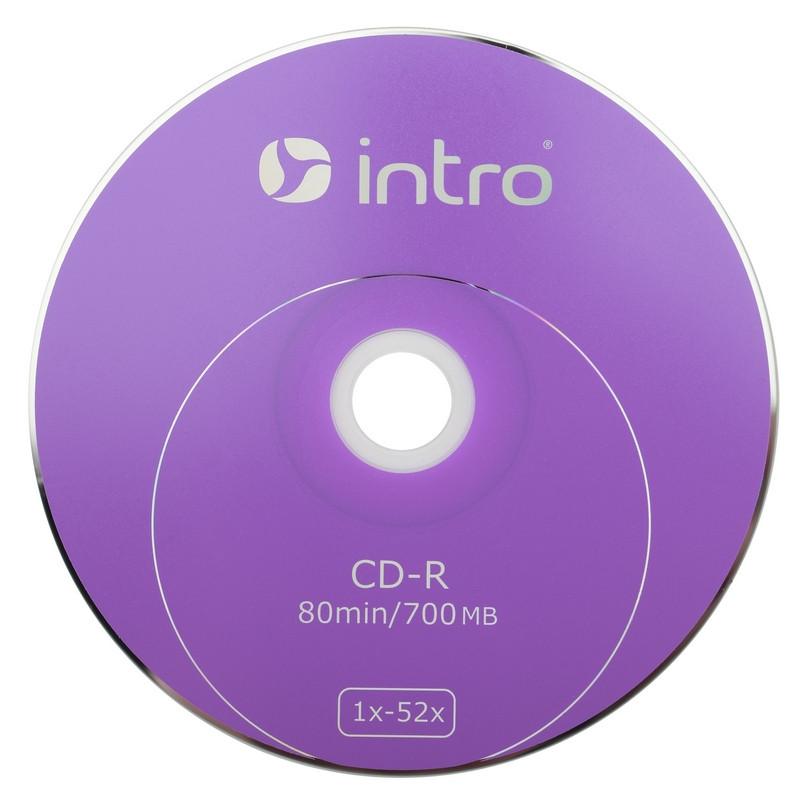 Носители информации CD-R, 52x, Intro, конверт/1, Б0016199