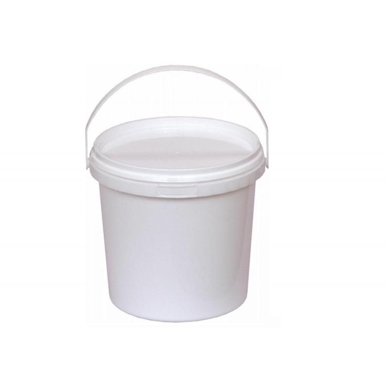 Ведро п/п 1л круглое белое с белой крышкой