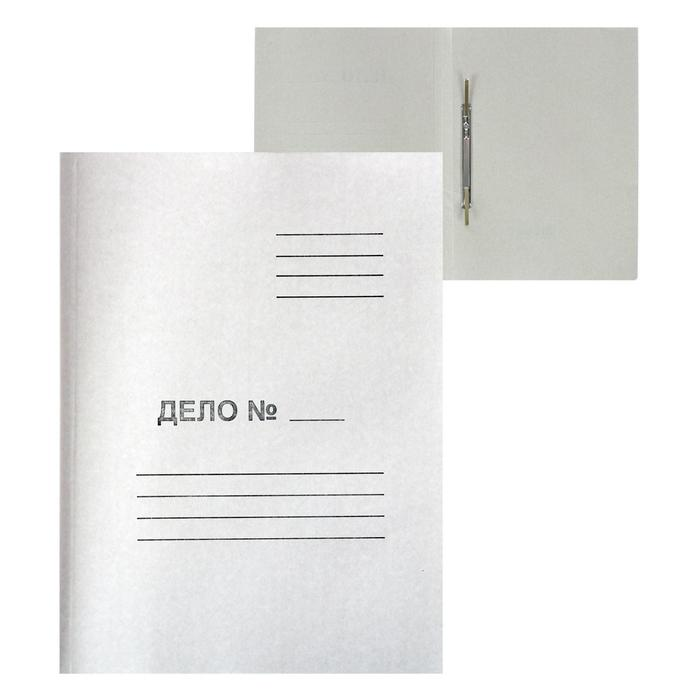 """Скоросшиватель """"Дело"""", картон немелованный, 220г/м2, белый, пробитый, до 200л"""