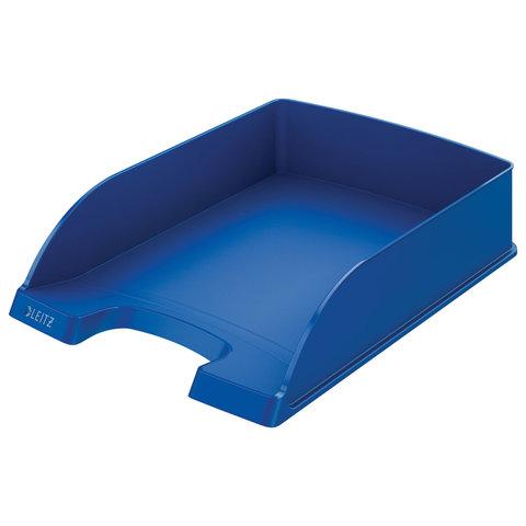 """Лоток горизонтальный для бумаг LEITZ """"Plus"""", синий, 52270035"""