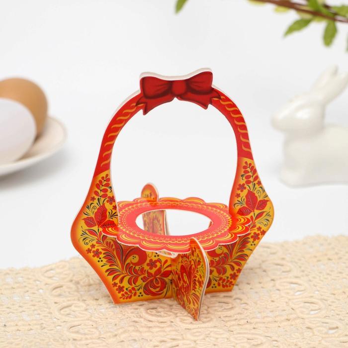Подставка пасхальная на 1 яйцо «Орнамент» (корзинка)