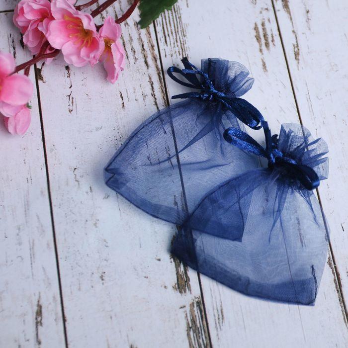 Мешочек подарочный 7*9, цвет темно-синий