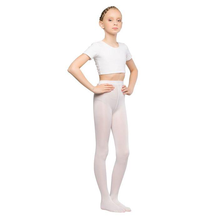 Колготки детские для танцев Liza, 40 ден, рост 98-110, цвет белый