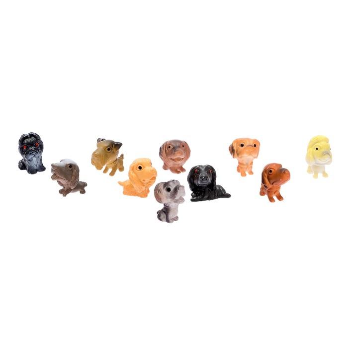 Набор фигурок животных «Щенки», 10шт, МИКС