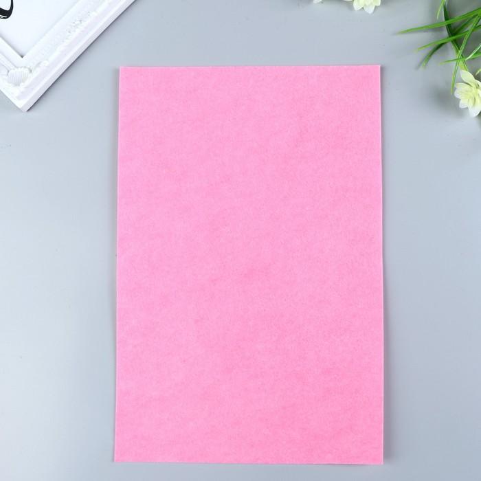 Фетр  полужесткий  1 мм 20х30 см   розовый