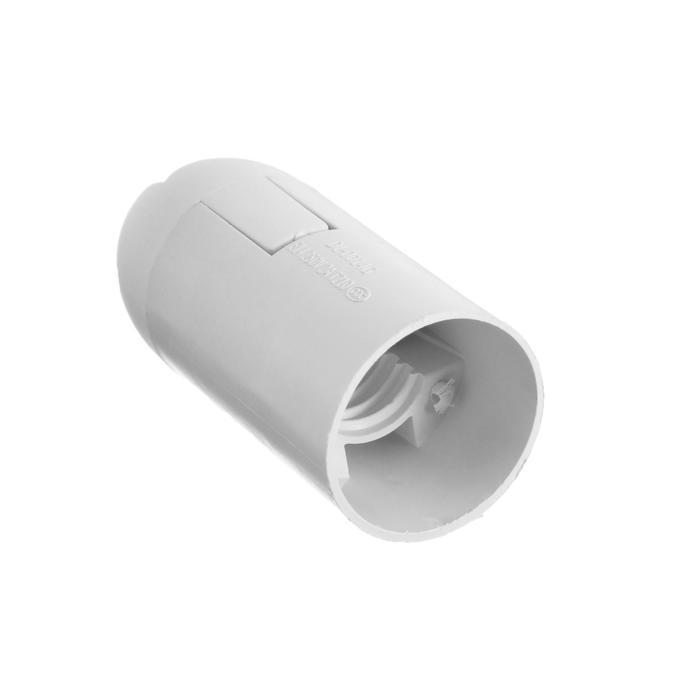 Патрон E14, пластиковый подвесной, белый