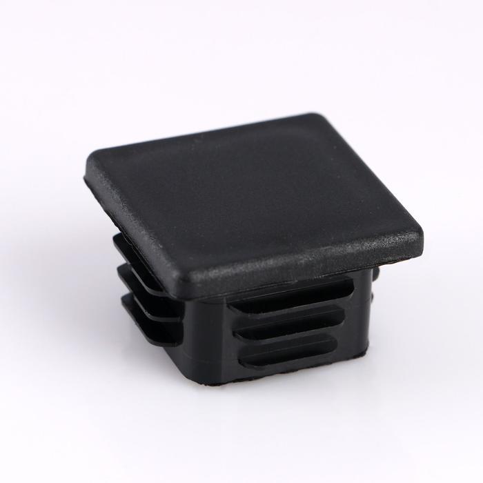 Заглушка внутренняя 40х40 мм, универсальная, черная