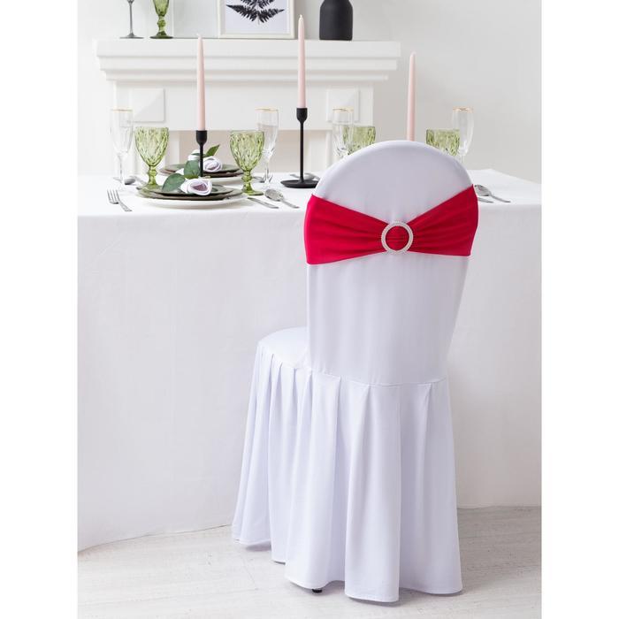 Декор для стула, цв.розовый, 15*35 см, 100% п/э