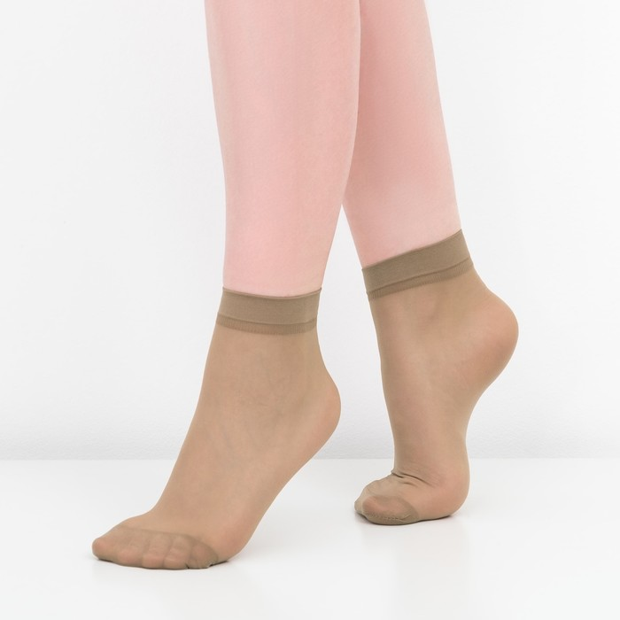 Носки женские, 30 ден, цвет загар, размер 36-40 (р-р 23-25)