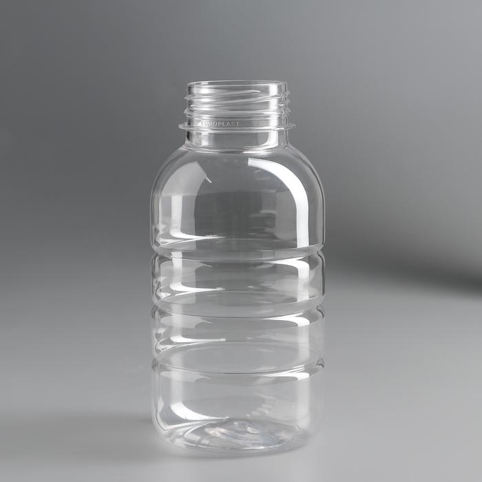 Бутылка одноразовая «Бочонок», 300 мл, горлышко d=3,3 см, без крышки, цвет прозрачный