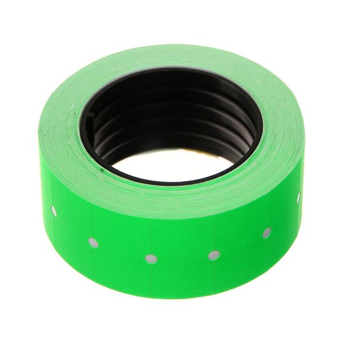 Этикет-лента 21*12мм, прямоугольная, зеленая, 500 этикеток