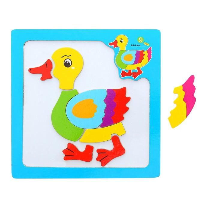 Конструктор магнитный в рамке «Утёнок», 9 элементов