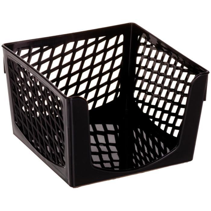 "Подставка для бумажного блока ""Офис-Класс"", 90 х 90 х 70 мм, черная"