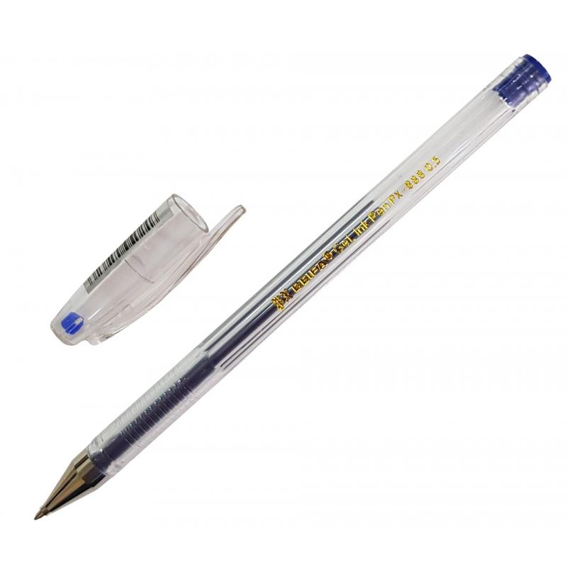 Ручка гелевая Beifa синий стерж., 0,5мм, без манж. PX888-BL