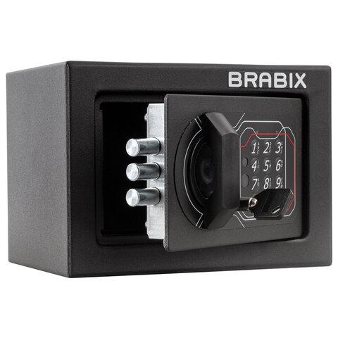 """Сейф мебельный BRABIX """"SF-140EL"""", 140х195х140 мм, электронный замок, черный, 291141, S103BR210214"""