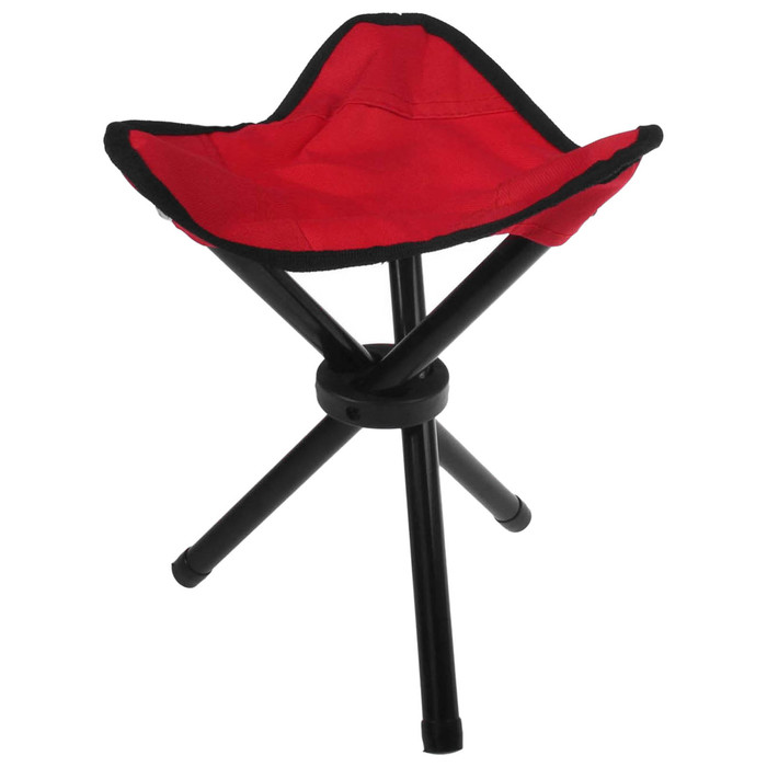 Стул туристический треугольный, до 60 кг, 22 х 20 х 30 см, цвет красный