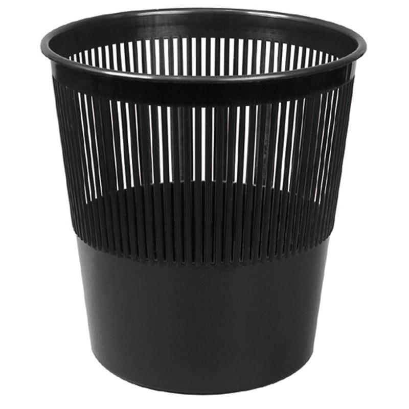 Корзина офисная 10л пластик, черная Attache