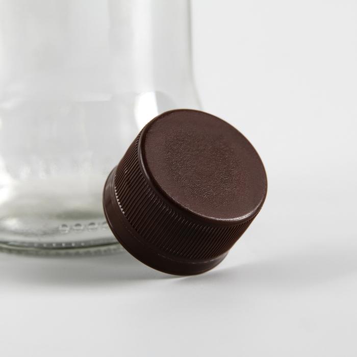 Пробка одноразовая двухкомпонентная, 28 мм на: 0,5 л, 1 л, 1,5 л, 2 л, 3 л, цвет коричневый