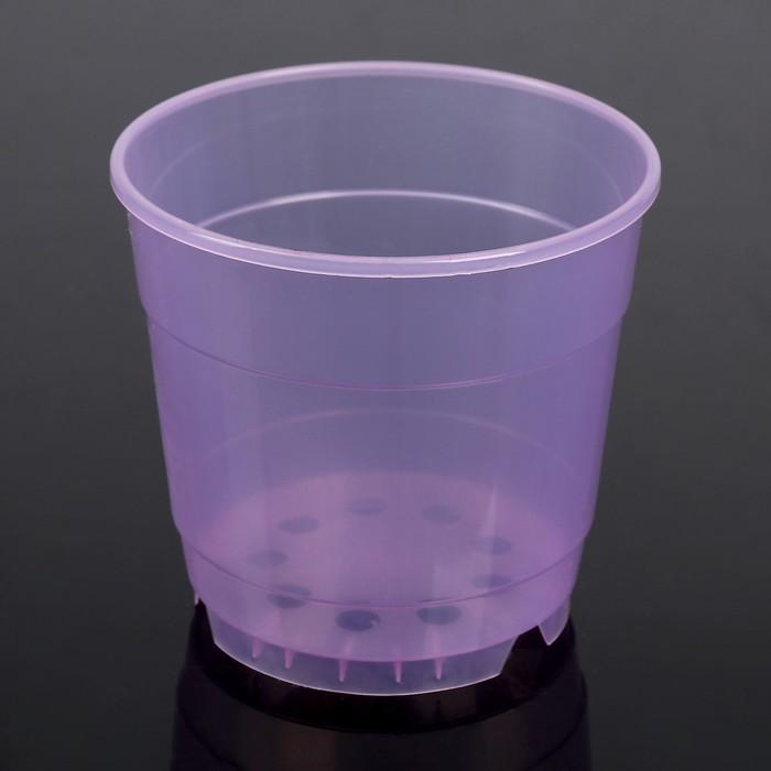 """Горшок для цветов 0,75 л """"Орхидея"""", D=12 см, цвет фиолетовый"""