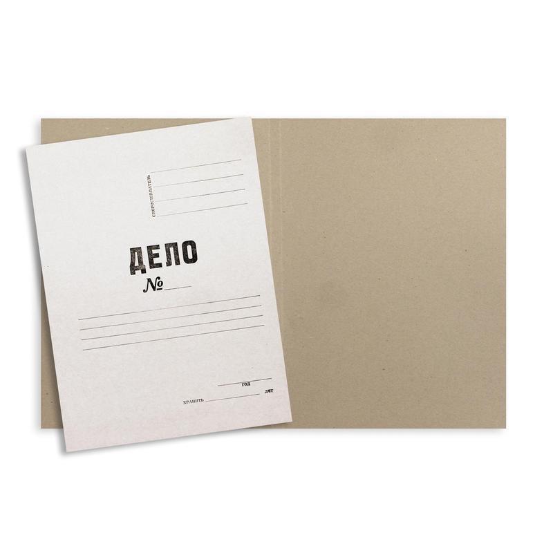 Папка-обложка Дело 440г/м2 немелованная, 10 шт уп