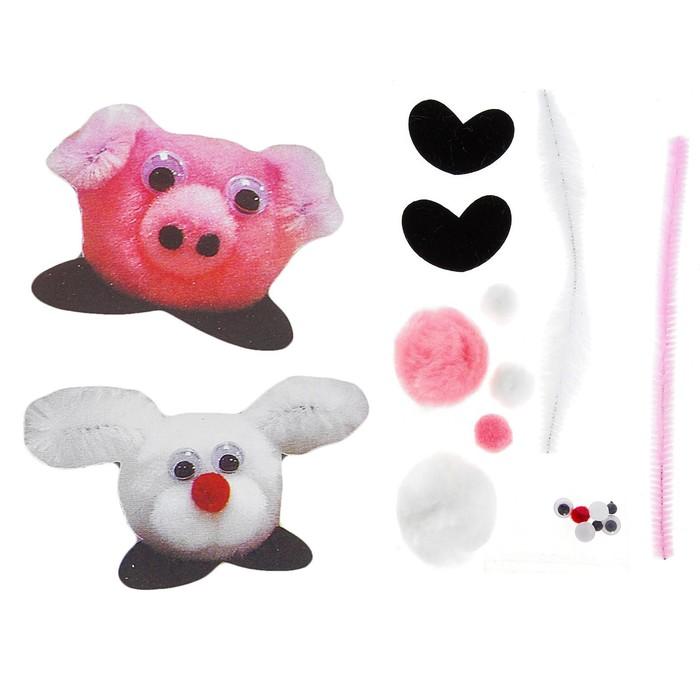Набор для творчества «Наклейка зайчик, свинка» 2 шт.