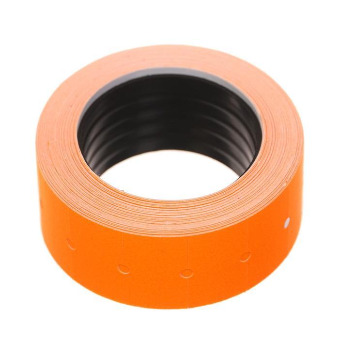 Этикет-лента 21*12мм, прямоугольная, оранжевая, 500 этикеток