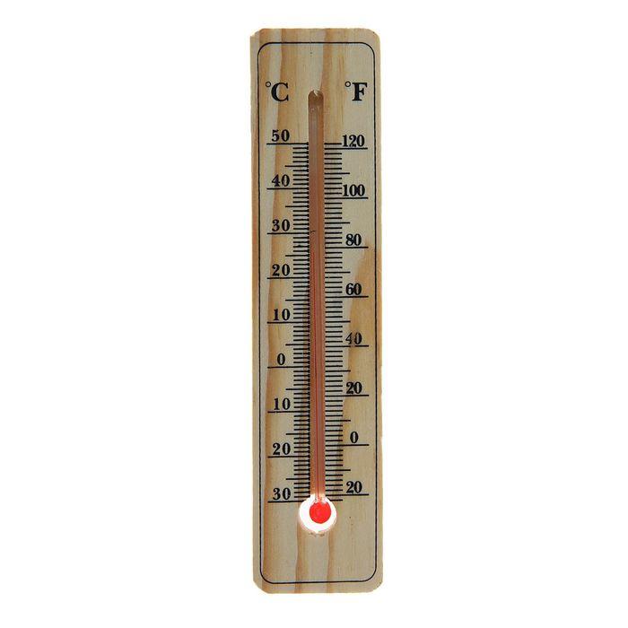 Термометр LuazON, уличный, спиртовой, дерево,