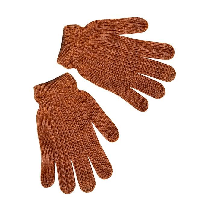 Перчатки женские, цвет светло-коричневый, р-р 18
