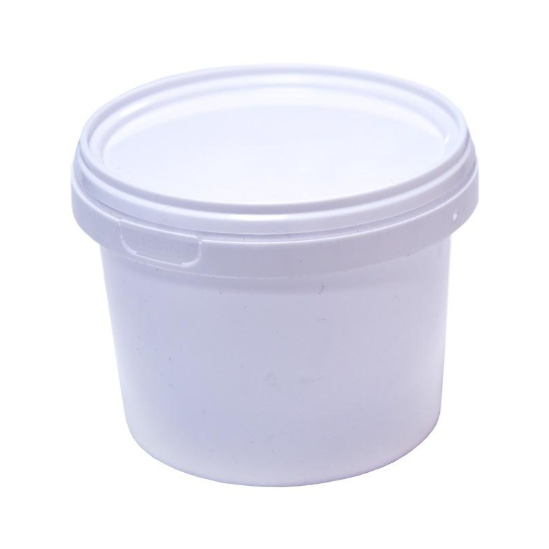 Ведро п/п 0,55  литра круглое БЕЛОЕ с БЕЛОЙ крышкой ВП 0,55