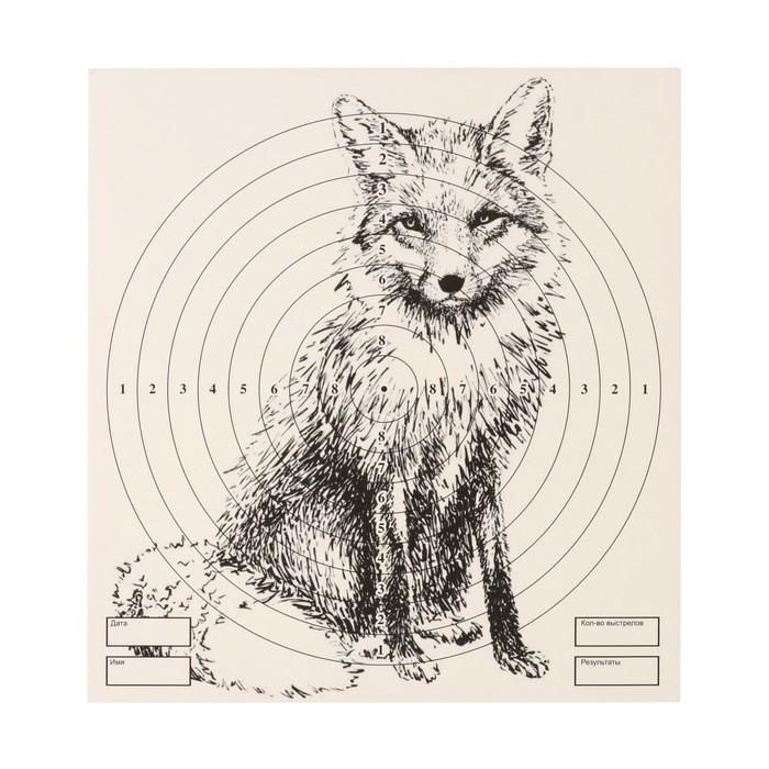 """Мишень """"Лиса"""" для стрельбы из пневматического  оружия,14 х14 см, дистанция 10 метров"""