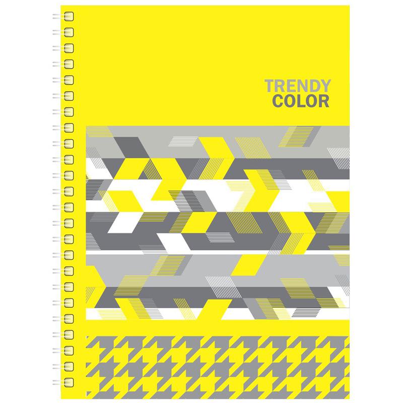 """Тетрадь 80л., А4, клетка, на гребне BG """"Trendy color"""", выборочный лак"""