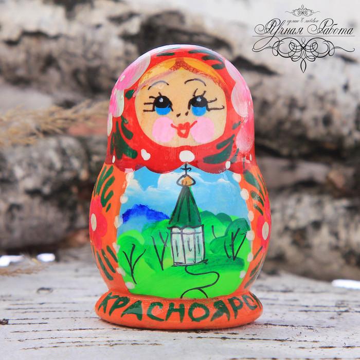 Магнит-половинка матрёшка «Красноярск»