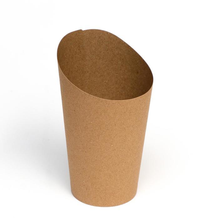 Упаковка для картофеля фри, крафт, 14 х 11 х 6 см