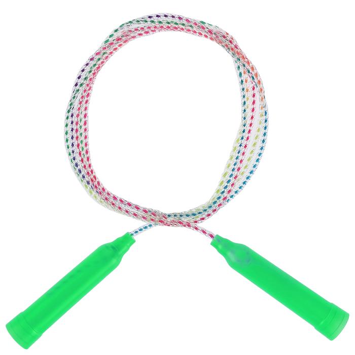 Скакалка, пластик, ПВХ, 2,3 м, d=4,3 мм, цвета МИКС