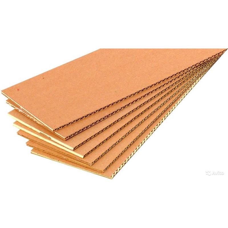 Гофролист картонный 800x1200 Т21, профиль В , бурый
