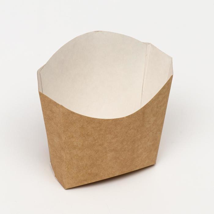 Упаковка для картофеля фри, крафт, 13 х 11,3 см, 130 г